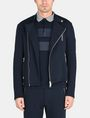 ARMANI EXCHANGE FLEECE ASYMMETRICAL MOTO JACKET Fleece Jacket Man f