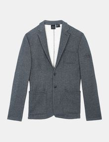 ARMANI EXCHANGE KNIT 3-POCKET BLAZER Fleece Jacket Man b