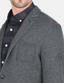 ARMANI EXCHANGE KNIT 3-POCKET BLAZER Fleece Jacket Man e