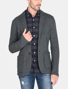 ARMANI EXCHANGE KNIT 3-POCKET BLAZER Fleece Jacket Man f
