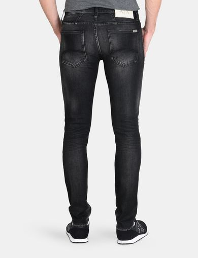 MEDIUM-WASH BLACK SKINNY JEAN