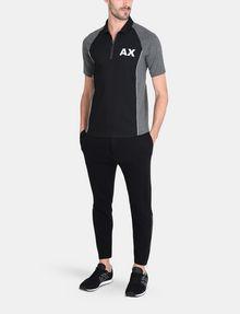 ARMANI EXCHANGE COATED SIDE-ZIP PANT Fleece Pant Man a