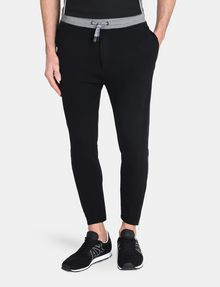 ARMANI EXCHANGE COATED SIDE-ZIP PANT Fleece Pant Man f