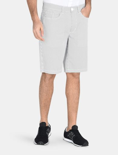 PRINTED FIVE-POCKET CHINO SHORTS