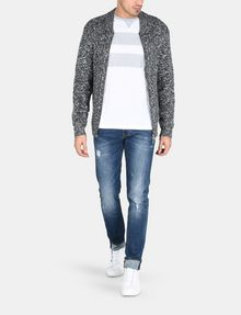 ARMANI EXCHANGE PRINTED BAR LAYERING CREW L/S Knit Top Man a