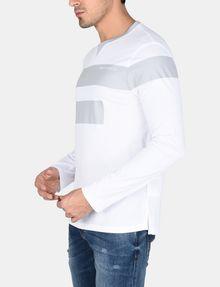 ARMANI EXCHANGE PRINTED BAR LAYERING CREW L/S Knit Top Man d