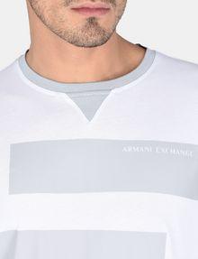ARMANI EXCHANGE PRINTED BAR LAYERING CREW L/S Knit Top Man e