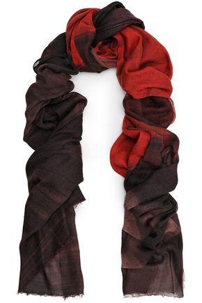BRUNELLO CUCINELLI Frayed dégradé cashmere scarf