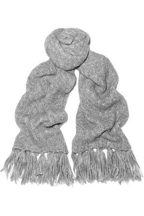 IRIS & INK Rita fringed alpaca-blend scarf
