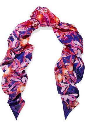 PETER PILOTTO Printed silk crepe de chine scarf