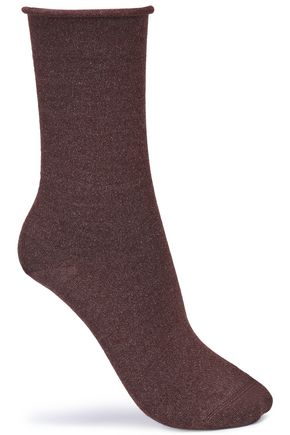 BRUNELLO CUCINELLI Metallic cashmere-blend socks