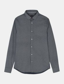 ARMANI EXCHANGE MICRO-DIAMOND PRINT SHIRT Long sleeve shirt Man b