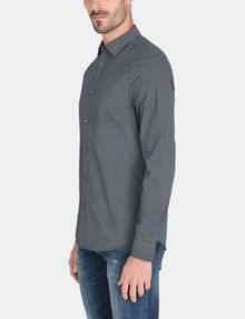 ARMANI EXCHANGE MICRO-DIAMOND PRINT SHIRT Long sleeve shirt Man d