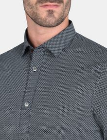 ARMANI EXCHANGE MICRO-DIAMOND PRINT SHIRT Long sleeve shirt Man e