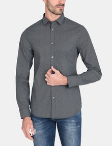 ARMANI EXCHANGE MICRO-DIAMOND PRINT SHIRT Long sleeve shirt Man f