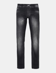ARMANI EXCHANGE MEDIUM-WASH BLACK STRAIGHT-LEG JEAN STRAIGHT FIT JEANS Man b