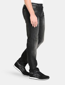 ARMANI EXCHANGE MEDIUM-WASH BLACK STRAIGHT-LEG JEAN STRAIGHT FIT JEANS Man d