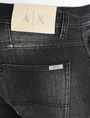 ARMANI EXCHANGE MEDIUM-WASH BLACK STRAIGHT-LEG JEAN STRAIGHT FIT JEANS Man e