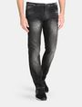 ARMANI EXCHANGE MEDIUM-WASH BLACK STRAIGHT-LEG JEAN STRAIGHT FIT JEANS Man f