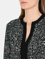 ARMANI EXCHANGE CONTRAST TRIM GEO PRINT BLOUSE L/S Woven Top Woman e