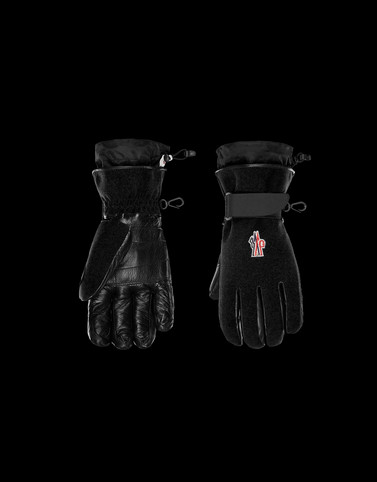 GLOVES Black Scarves & Gloves Man