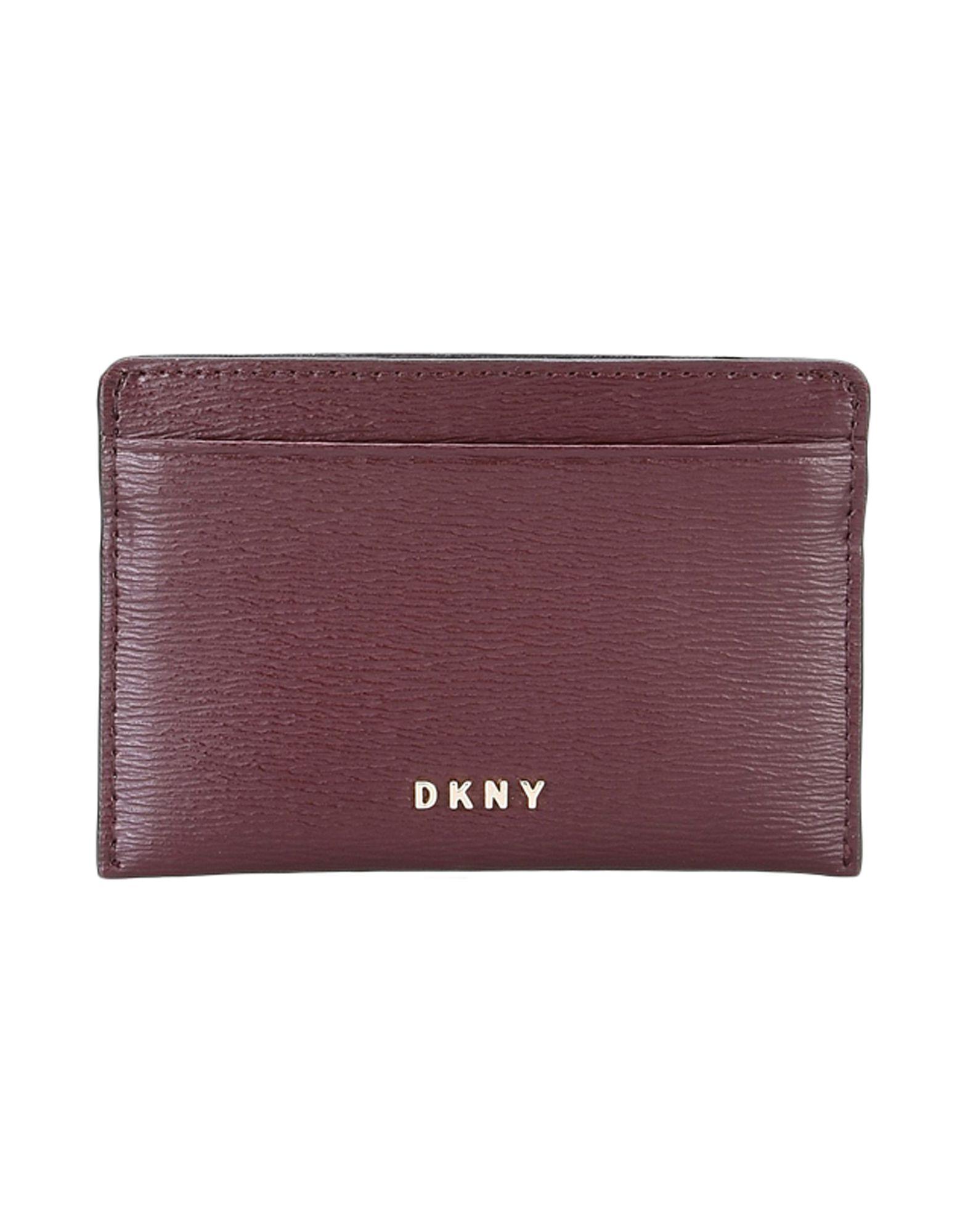 《送料無料》DKNY レディース ドキュメントホルダー ココア 牛革 CARD HOLDER