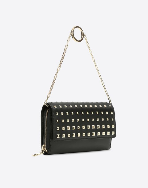 Rockstud Continental Wallet on Chain