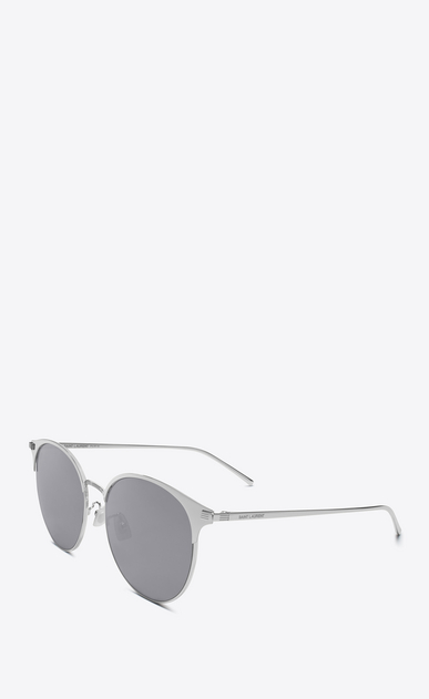 SAINT LAURENT CLASSIC E 202/k in silver matte b_V4