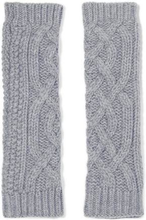 AGNONA Cable-knit cashmere arm warmers