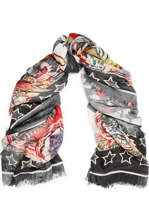 ROBERTO CAVALLI Printed modal scarf