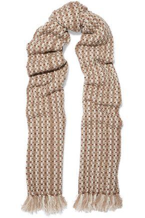 AGNONA Frayed cashmere scarf