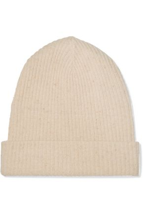 AUTUMN CASHMERE Ribbed cashmere beanie