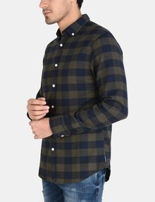 ARMANI EXCHANGE PLAID FLANNEL SHIRT Long sleeve shirt Man d