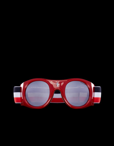 Eyewear Red Ski Masks Woman