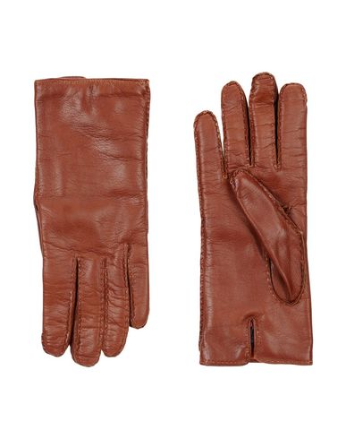 MALO メンズ 手袋 ブラウン 8 革