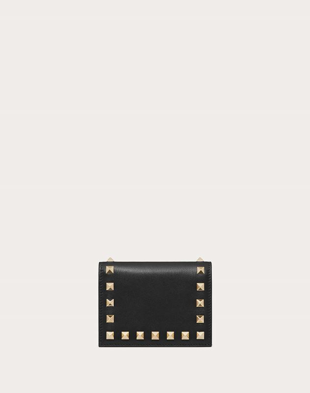Kleines Portemonnaie Rockstud aus Kalbsleder