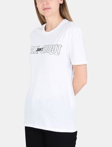 ARMANI EXCHANGE TALK DON'T SHOUT STATEMENT TEE Non-logo Tee Woman d