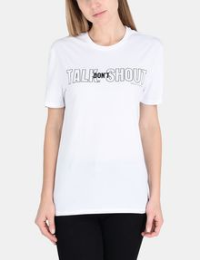 ARMANI EXCHANGE TALK DON'T SHOUT STATEMENT TEE Non-logo Tee Woman f