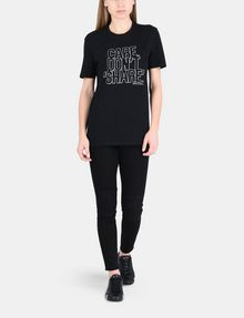 ARMANI EXCHANGE CARE DON'T SHARE STATEMENT TEE Non-logo Tee Woman a
