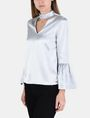 ARMANI EXCHANGE VELVET BELL-SLEEVE TOP L/S Woven Top Woman d