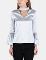 ARMANI EXCHANGE VELVET BELL-SLEEVE TOP L/S Woven Top Woman f