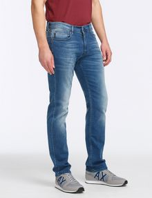 ARMANI EXCHANGE MEDIUM-WASH STITCHED STRAIGHT-LEG JEAN STRAIGHT FIT JEANS Man d