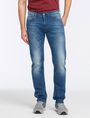 ARMANI EXCHANGE MEDIUM-WASH STITCHED STRAIGHT-LEG JEAN STRAIGHT FIT JEANS Man f