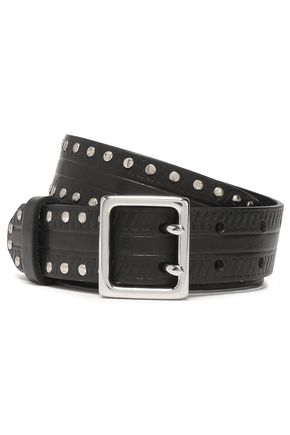 RAG & BONE Willow studded leather belt