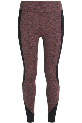 KORAL Mélange stretch-jersey leggings