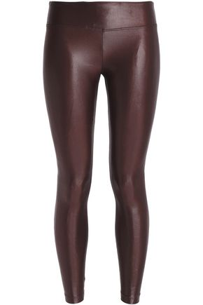 KORAL Coated stretch leggings