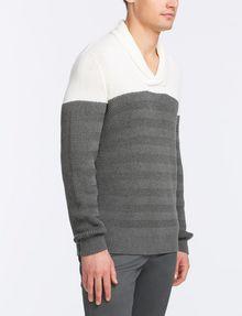 ARMANI EXCHANGE COLORBLOCK SHAWL-COLLAR SWEATER Pullover Man d