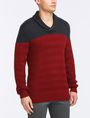 ARMANI EXCHANGE COLORBLOCK SHAWL-COLLAR SWEATER Pullover Man d