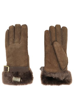 AUSTRALIA LUXE COLLECTIVE Buckled shearling gloves