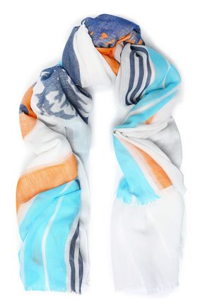 RAG & BONE Printed cotton-gauze scarf